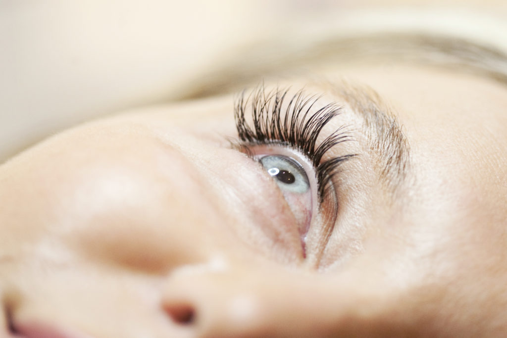 A perfectly applies set of lash extensions!
